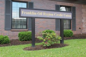 franklin oil region front sign