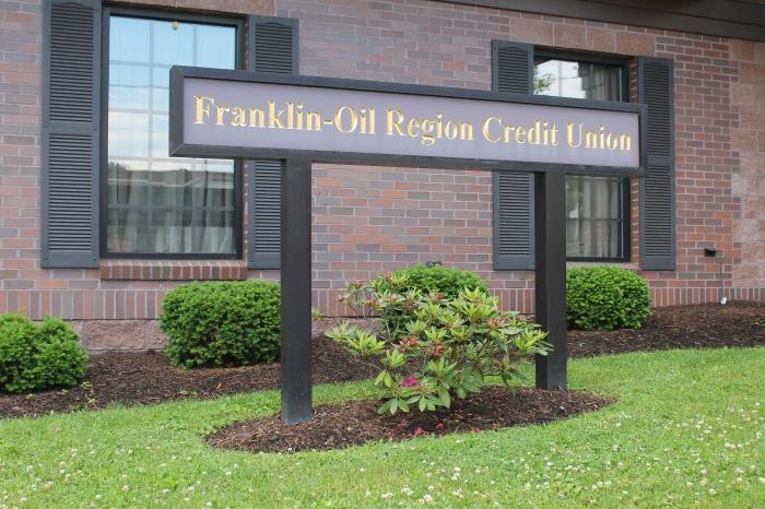 franklin oil region front sign